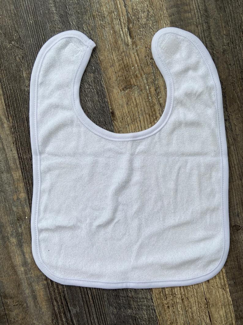 Baby Bib Sublimation Blanks White