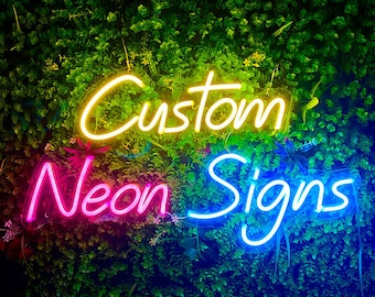 Custom LED Neon Signs for Wedding, Personalize Neon light for Home Decor, Custom Party Neon light signs, Bar Neon Sing, Custom Own neon sign