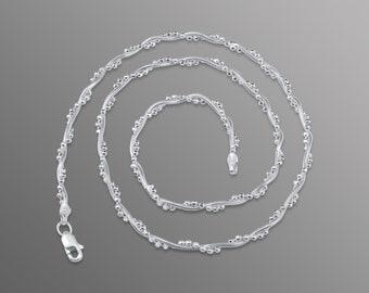 Silver seaweed chain