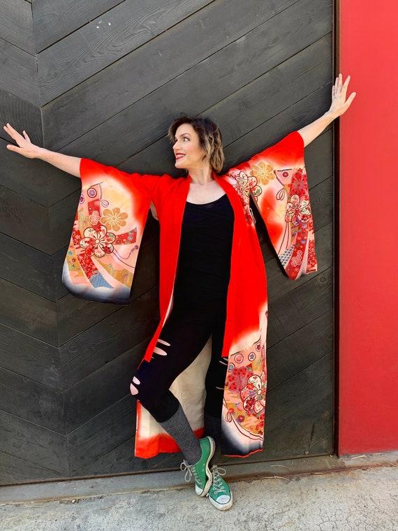 Femme Floral Dip Dye Kimono Ombre 12