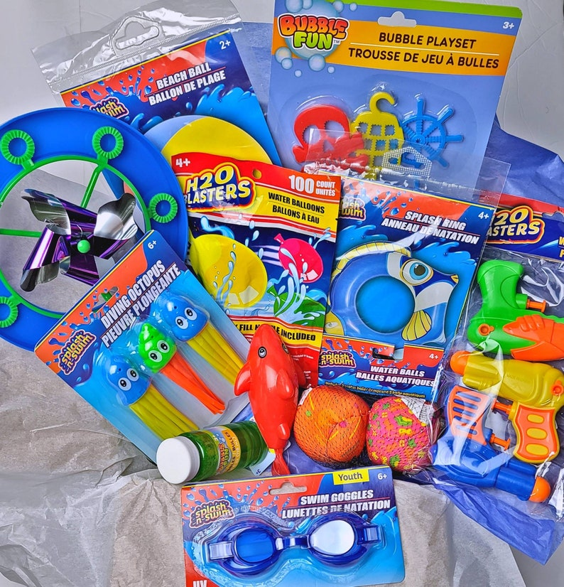 Kids Outdoor Activity Summer Fun Care Box  9 Mystery Items image 0