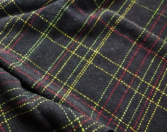 Handwoven tweed - Black Welsh Mountain check