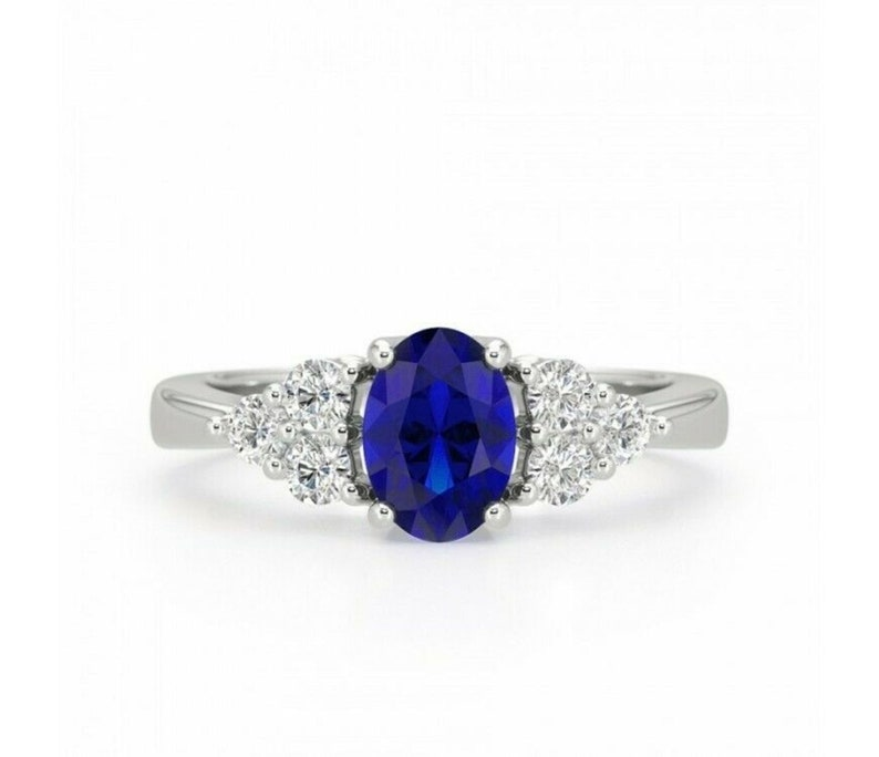 Gorgeous 3.8ctw Sapphire Ring Sterling Silver Blue Sapphires Jewelry Trends Gemstones Blue Sapphire Ring September Birthstone