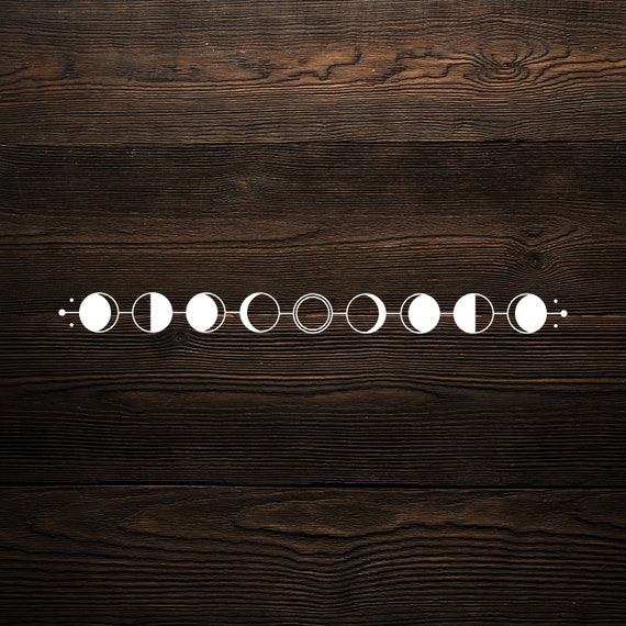 Moon phases svg files for crciut, celestial moon, orb svg, moon phase, SVG, PDF, digital download, moon art, moon phases svg cutting file