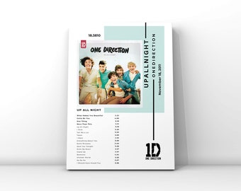 One Direction Up All Night Poster   Wall Art   Music Decor
