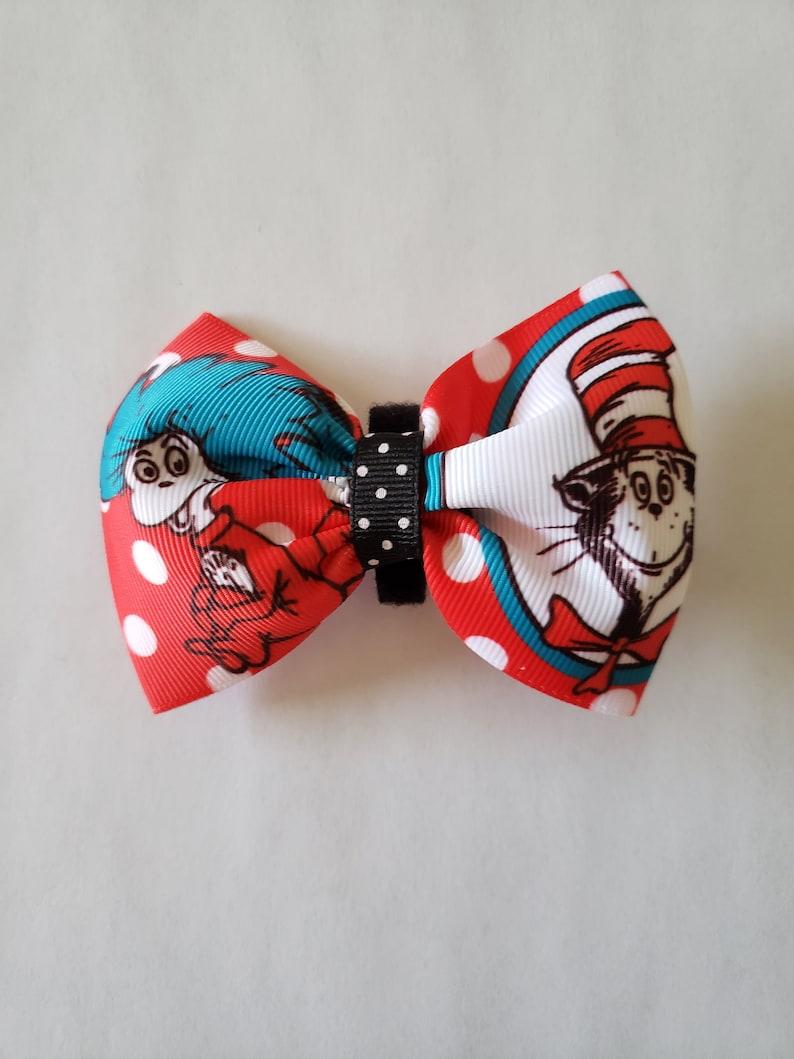 Pet Birthday Animal Collar Bows Dog Accessories Dr Seuss Pet Bows Medium Dog Bow Tie Pet Gift Collar Bows Medium Size Dog