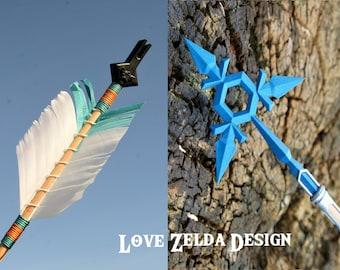 Zelda ICE Arrow - Handmade Breath of the Wild BOTW  / Age of Calamity arrow