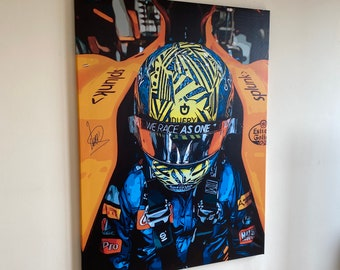 LANDO NORRIS F1 Formula One signed Limited Edition CANVAS art