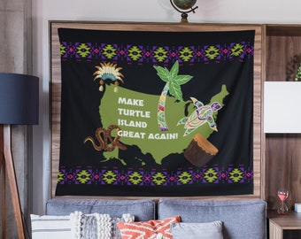 Indoor Wall Tapestry//Black Lives Matter//Indigenous/Aboriginal//BLM Movement//Make Turtle Island Great Again//Black History/Heritage