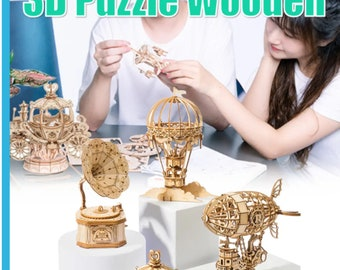 3D Wooden Puzzle Model Building Assembly Toys for Chidren Boys Xmas Gift