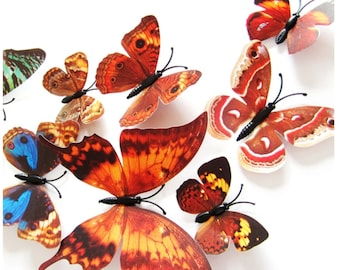 12pcs 3D Butterfly Design Decal Art Wall Stickers Room ations Home