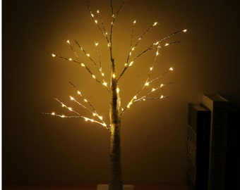 """23"""" Battery Supply 55LED Birch Twig Tree Night Light Holiday Home Party Wedding Decor Gift"""
