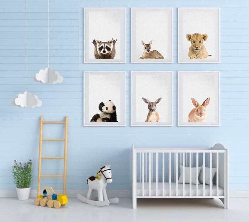 Animal Head Wall Decor  Baby Animal Set 6  Animal Printable image 0