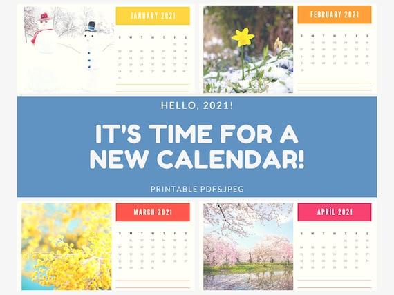 Printable Calendar 2021 | Monthly Printable Calendar Template | printable calendar monthly planner | Weekly Calendar | Digital Download