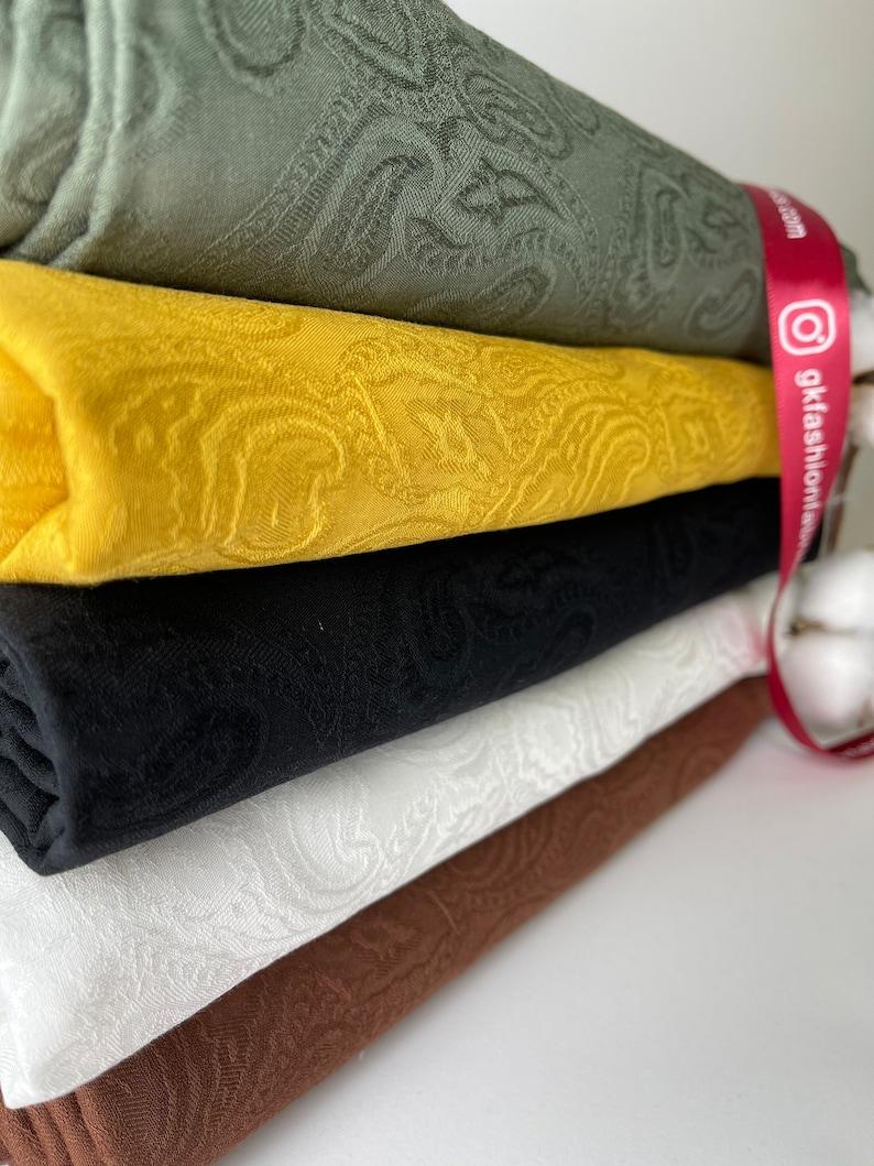 Silky Finish, Viscose Jacquard Fabric