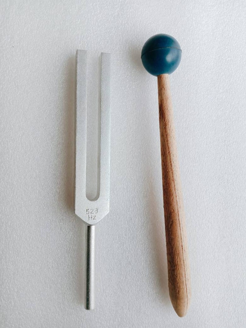 528 hz DNA repair tuning fork with pouch and mallet+1 gift