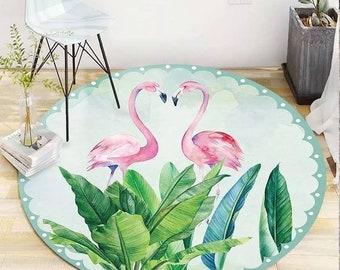 Baby play mat large flamingo print