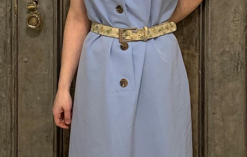 Vintage 50s 60s butterfly dress belt lace glitter silver pink Plus size 35 to 40 waist