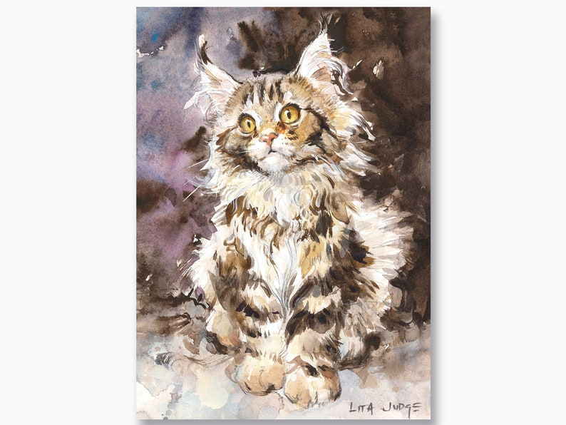 Willow Kitty Notecard Pack  SET of 4