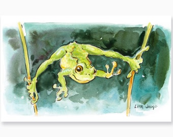 Froggy Art Print by Lita Judge, 5 x 8 inches