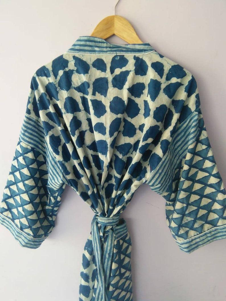 Patchwork Cotton Kimono Best selling Indigo Kimono Bath Robe,Cover up Kimono Dress Plus Size Bath Robe