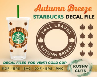 Starbucks Fall Svg Etsy