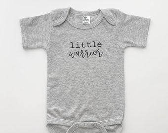warrior baby fighter preemie preemie bodysuit sick baby gift NICU clothes preemie gift Baby bodysuit Little Warrior newborn creeper