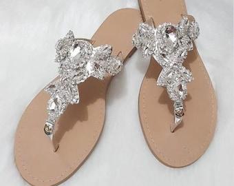 Jeweled sandals | Etsy