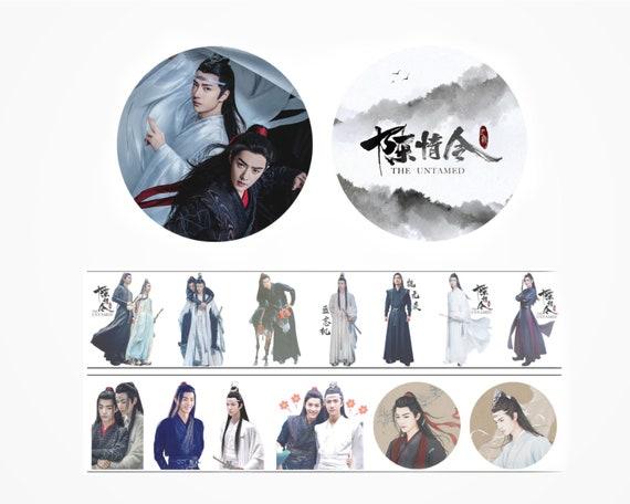 The Untamed Washi Tape Wei Wu Xian /& Lan Zhan on Mo Dao Zu Shi Chinese Historical Drama