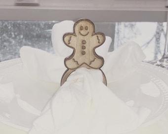 Gingerbread Man Napkin Rings / Napkin Holders
