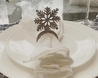 Snowflake Napkin Rings / Napkin Holders