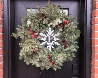Wreath Monogrammed Centre Insert / Door Hanger