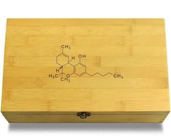 Marijuana Molecule - Multikeep Box Sustainable Chest - Stash Box