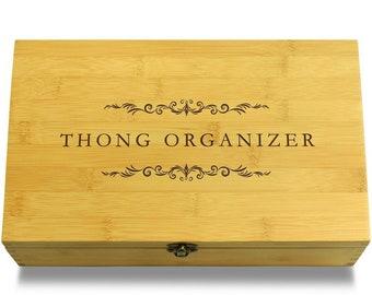 Thong Organizer Multikeep Box Bamboo Organizer - Stash Box