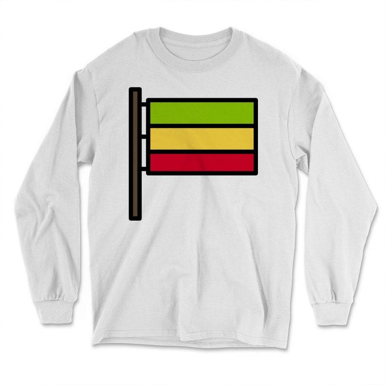Stoner Weed Reggae Hippie Music Marijuana Smoke Dub Rasta Flag Long Sleeve T-Shirt Kush High society Jamaica