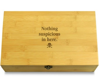 Nothing Suspicious In Here - Multikeep Box Sustainable Chest - Stash Box
