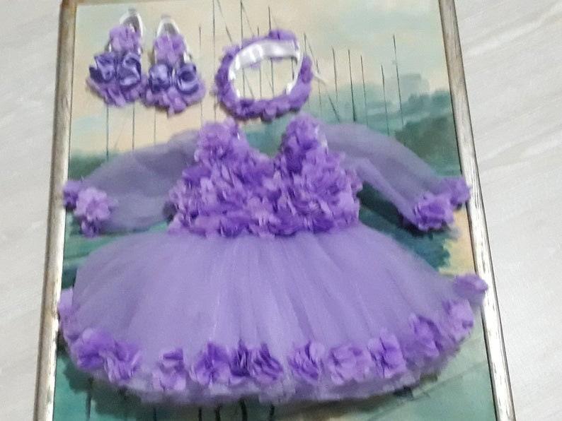 Princess Dress Flower Pink Girl Dress Fancy Girl Dress Baby Shower Diaper Baby Girl Dress Flower Birthday Dress Baby Girl Toddler