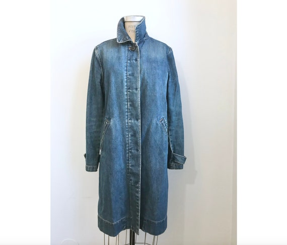 Denim Macintosh Trench Coat