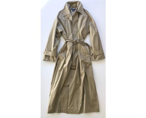 Ralph Lauren Macintosh Tan Khaki Trench Coat