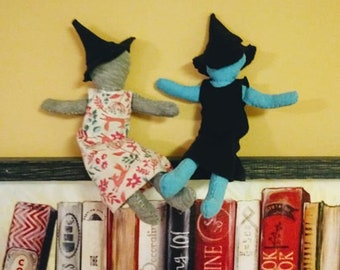 Hand-sewn kitchen witch for good cooking luck!