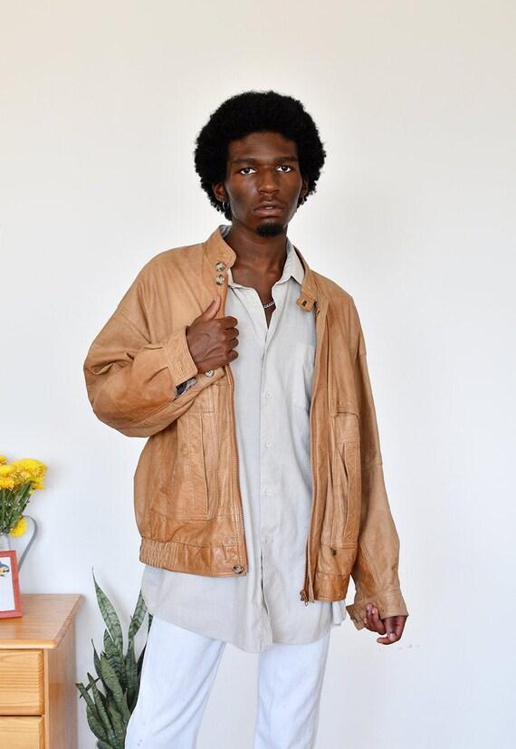 Vintage beige festival bomber jacket  UNISEX