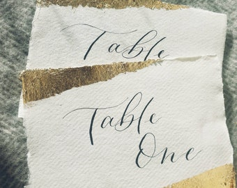 Calligraphy Table Numbers/Names