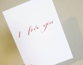 I Love You Card | Valentines Day Card | Greeting Card