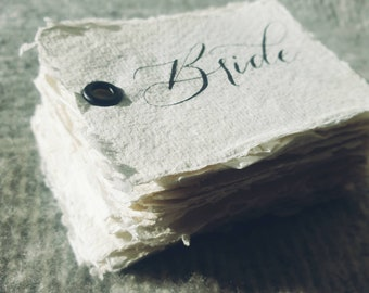 Calligraphy Place Card | Handwritten Place Card
