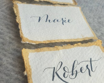 Calligraphy place cards | handwritten name cards