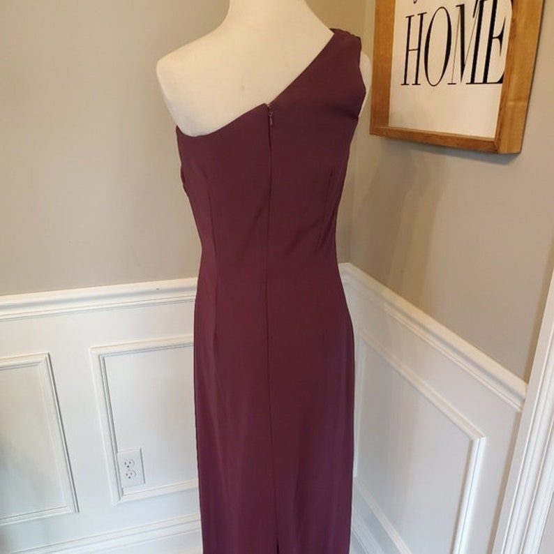 SAMPLE SALE! One Shoulder After Six Full Length Gown in Purple