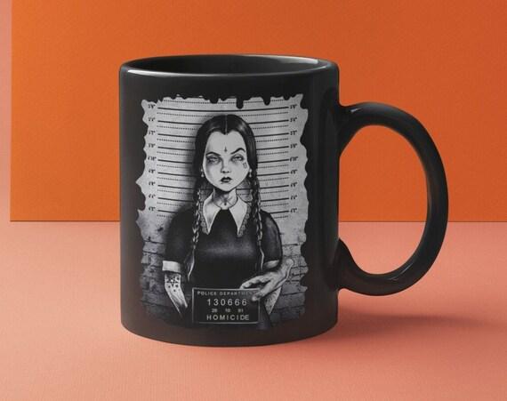 Wednesday Addams Mug Shot Halloween Collection Coffee Mug