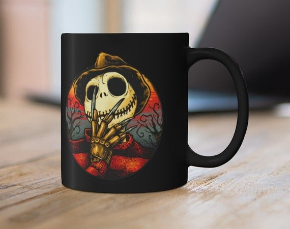 Jack Skellington Freddy Krueger Halloween Collection Mug