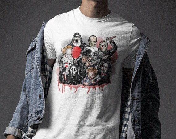 Classic Horror Movie Characters Halloween T-Shirt