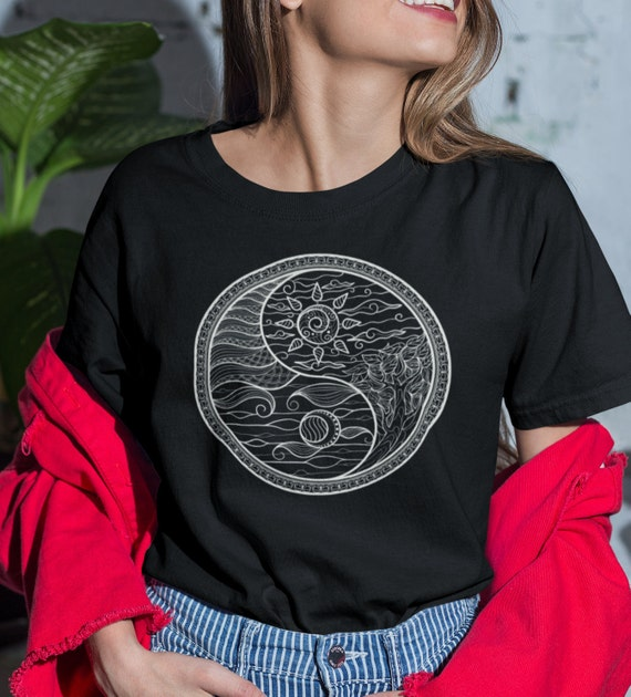 Sun and Moon Ying Yang T-Shirt